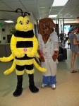 Be Wise Immunize Bumble Bee & Mr. McGruff, the TPD Crime Dog.
